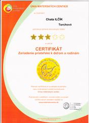 Wakacje z dzieckiem certyfikat Ilčík