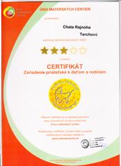 Wakacje z dzieckiem certyfikat Rajnoha