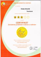 Wakacje z dzieckiem certyfikat Uhorčík