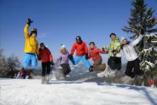 Dużo zabawy na nartach