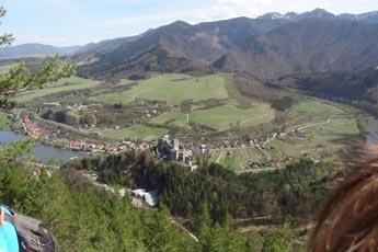 Výhľad na hrad Strečno