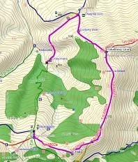 Túra na Chleb - Poludňový Grúň mapa