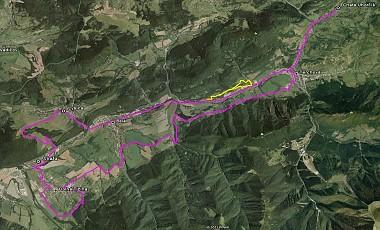 Cyklotarsa Bela - Lysica - Dolna Tizina (Google map)