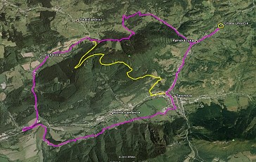 Cyklotrasa Bela-Mravecnik mapa google