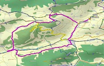 Cyklotrasa Bela-Mravecnik mapa