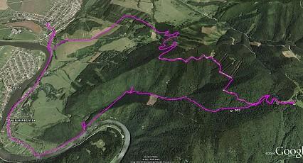 Cyklotrasa na Suchý_mapa google