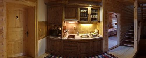 Küche in der Hütte Rajnoha