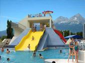 AquaCity Poprad - vodný park, bazény, mayská pyramída